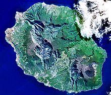Satelitní pohled na Reunion