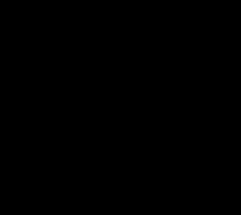 Ribose-structuur met aanduiding van de nummering van de koolstofatomen. Hieraan wordt een fosfaatgroep toegevoegd om er een nucleotide van te maken.