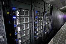 Roadrunner, 's werelds snelste supercomputer (vanaf 2009), die Linux draait.