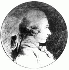 De Sade, omkring 20 år gammel. Dette er det eneste kendte billede af De Sade. Det blev malet af Charles-Amédée-Philippe van Loo