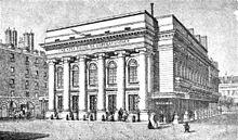 Lithografie van de tweede salle Favart waarin de Opéra-Comique tussen 1840 en 1887 was gehuisvest.