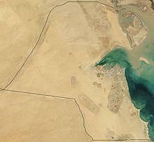 Ein Satellitenbild von Kuwait (aufgenommen 2001)
