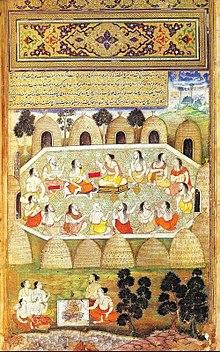 Sauti draagt de sloka's van de Mahabharata voor.