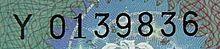 Serienummer van een identiteitsdocument