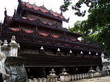 Het Shwenandaw klooster.