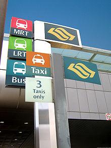 Bus, MRT, LRT en taxi vormen het openbaar vervoersysteem in Singapore.
