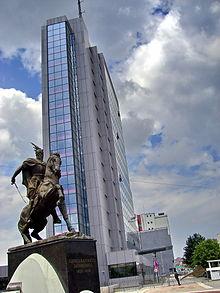 Budova vlády Kosovské republiky v Prištině