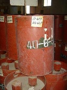 Een loop van een chemisch wapen, geproduceerd in de Sovjet-Unie, uit Albanië...