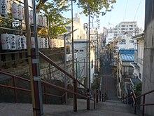 De trap waar Taki en Mitsuha elkaar ontmoeten aan het einde van de film...