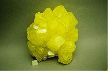 Het element zwavel heeft een kristallijne structuur