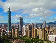 Taipei City, de hoofdstad van Taiwan.