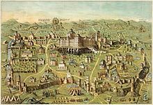 Midden in het oude Jeruzalem staat de beroemde tempel van Salomo.