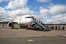 Tiger Airways Australië jet bij Canberra.