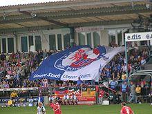 Turbine vlag bij Karl-Liebknecht-Stadion