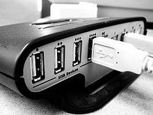 USB-hubs zoals deze zijn gebruikelijk.