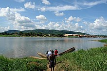 Rzeka Ubangi na obrzeżach Bangui.