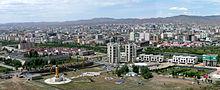 Panorama-uitzicht op Ulaanbaatar, juni 2009