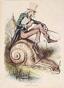 Uncle Sam, getekend door Thomas Nast in 1860.