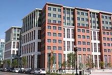 Hoofdkwartier van het New United States Department of Transportation (USDoT) op New Jersey Avenue, SE