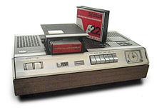 Vroege consumenten videorecorder in een museum