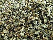 Vermiculite dopo il riscaldamento e pronta all'uso