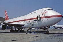 Virgin miał takie Boeingi 747 w latach 80-tych.