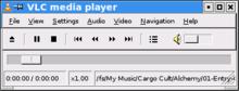 VLC met de wxWidgets interface, draaiend op KDE