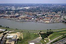 Washington Navy Yard en gebied, rond 1985