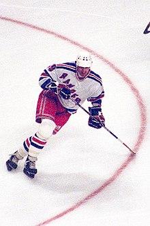 Wayne Gretzky το 1997 όταν έπαιζε για τους New York Rangers