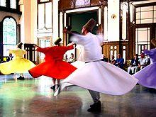 Sufi wirbelnde Derwische in der Türkei