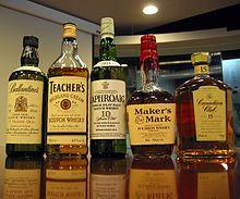 Whisky's uit Schotland, de Verenigde Staten en Canada