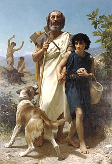 Homer und sein Führer, von William-Adolphe Bouguereau (1825-1905)