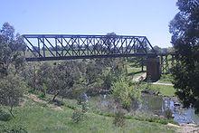 Eisenbahnbrücke über den Fluss Yass