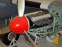 Rolls-Royce Merlin motor in een Avro York