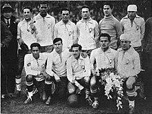 Braziliaans elftal tegen Joegoslavië
