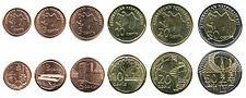 Aserbaidschanische Qapik-Münzen. Obere Reihe - Vorderseite (vorne), untere Reihe - Rückseite (hinten).