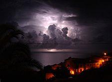 Onweer boven Garajau, Madeira