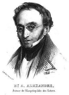 Aaron Alexandre, tekening van Alexandre Laemlein (1844)