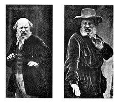 Dwie fotografie z Darwinowskiej Ekspresji emocji, ukazujące uczucie obrzydzenia.