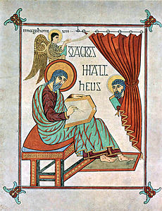 "Dal Vangelo di San Matteo, del ""Maestro di Lindisfarne""."