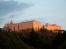 Abdij van Monte Cassino, een beroemd klooster en het moederhuis van de Orde van Sint Benedictus.