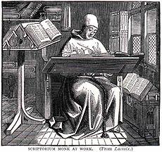 Schreiber bei der Arbeit
