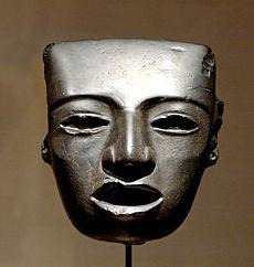 Stenen masker ontdekt in Teotihuacán, 3de tot 7de eeuw CE