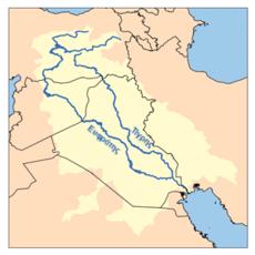 Die beiden Flüsse Mesopotamiens