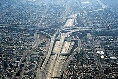 Een blik op het Los Angeles snelweg systeem.