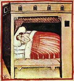 Ilustración de Tacuinum Sanitatis, un manual medieval sobre bienestar.