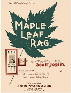 """Tweede editie cover van """"Maple Leaf Rag."""" Het is een van de beroemdste vodden."""
