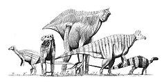 Verschiedene Ornithopoden-Dinosaurier