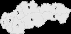 Regionen der Slowakei