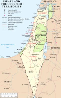 Granice państwa Izrael